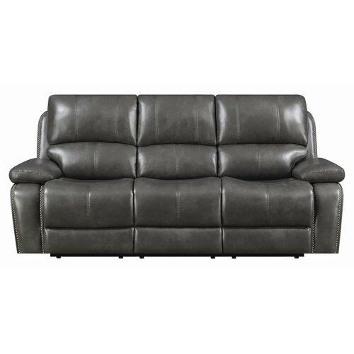 Leatherette Recliner Sofa