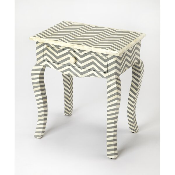 Eliot End Table with Storage by Bungalow Rose Bungalow Rose