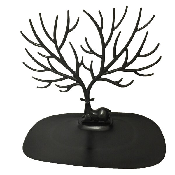 Desktop Tray and Trees Jewelry Stand by Millwood Pines