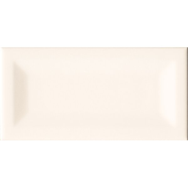 Almond Inverted 3 x 6 Beveled Ceramic Subway Tile in Glossy Beige by MSI