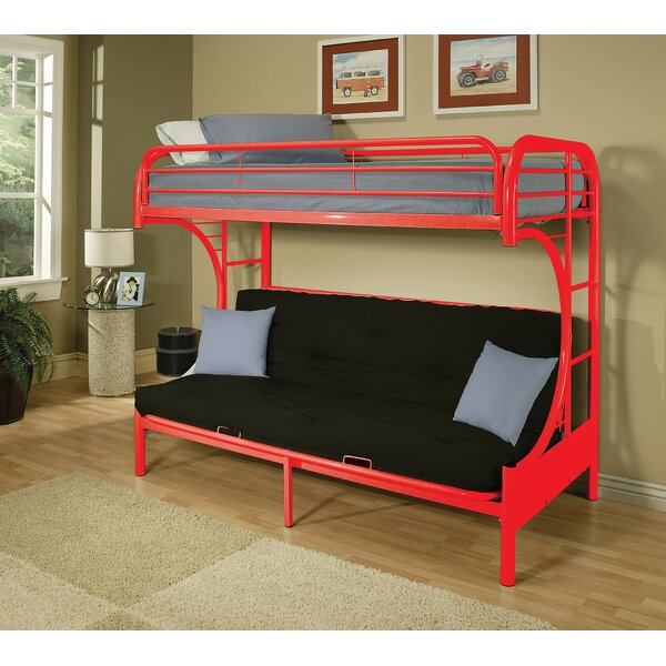 Marshfield Twin Over Twin Futon Bunk Bed by Zoomie Kids