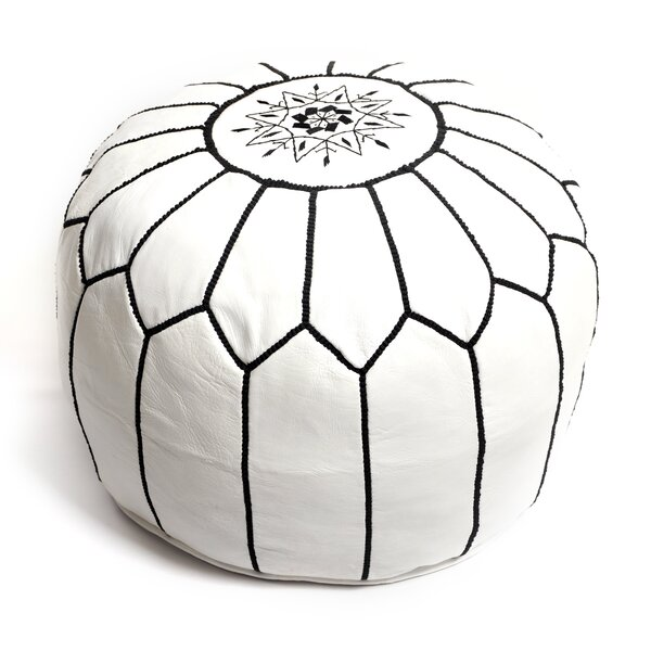 Moroccan White Pouf By Beldi Nest