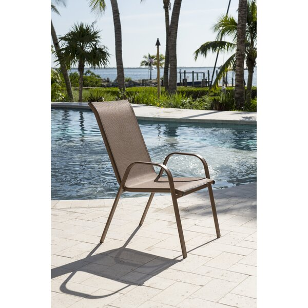 Café Stacking Patio Dining Chair by Panama Jack Outdoor