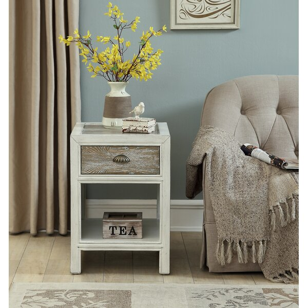 Funderburg End Table with Storage by Highland Dunes