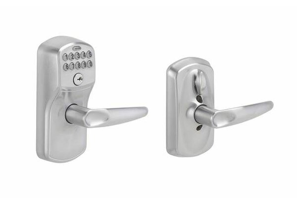 Jazz Keypad Lever with Plymouth Trim by Schlage