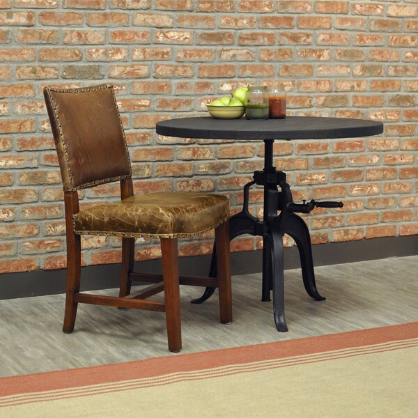 Aguilar Leather Upholstered Dining Chair by Alcott Hill