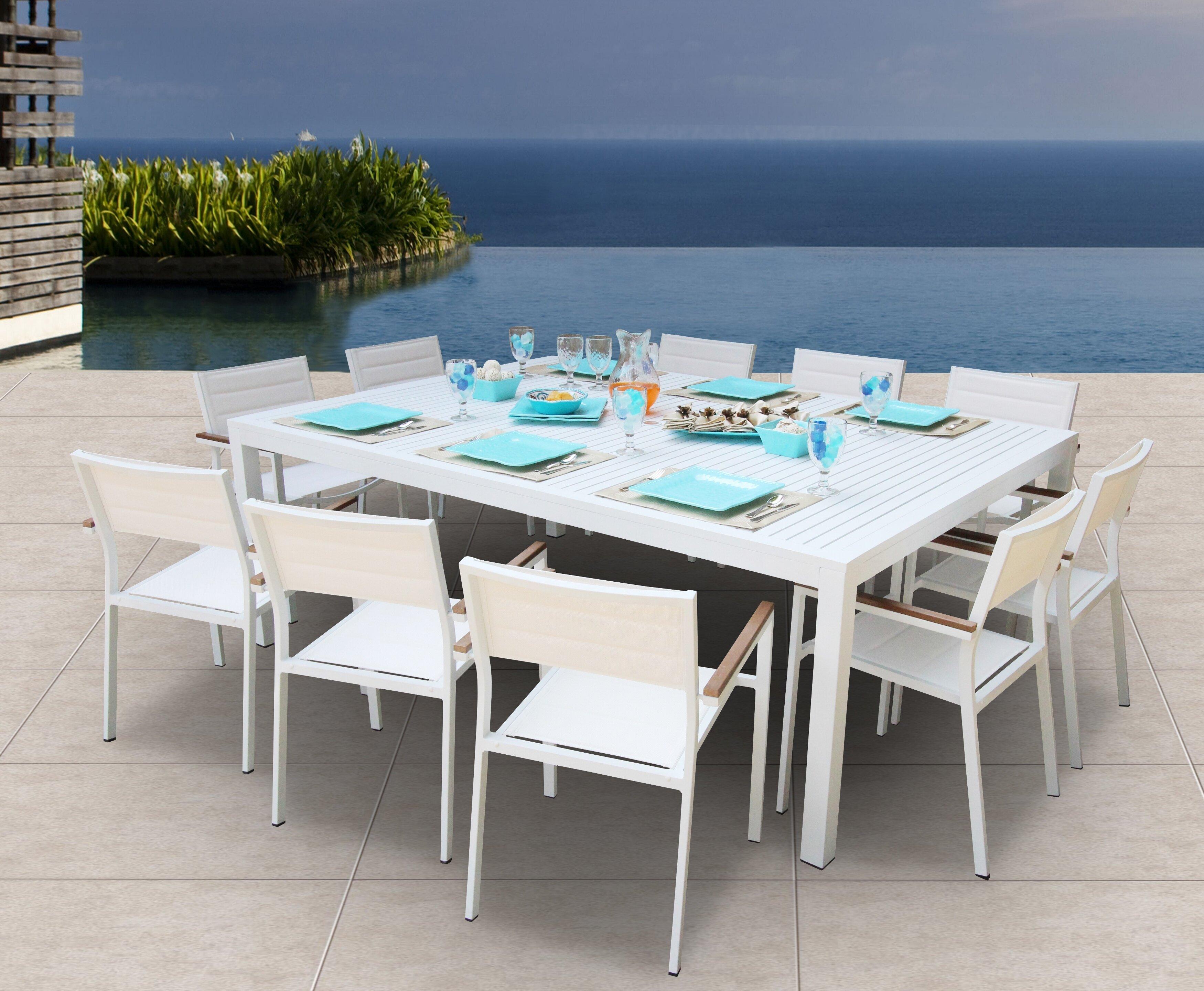 Orren Ellis Rizzuto 11 Piece Dining Set & Reviews   Wayfair
