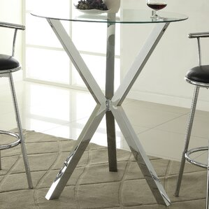 Oaklyn Pub Table in Chrome by Wade Logan