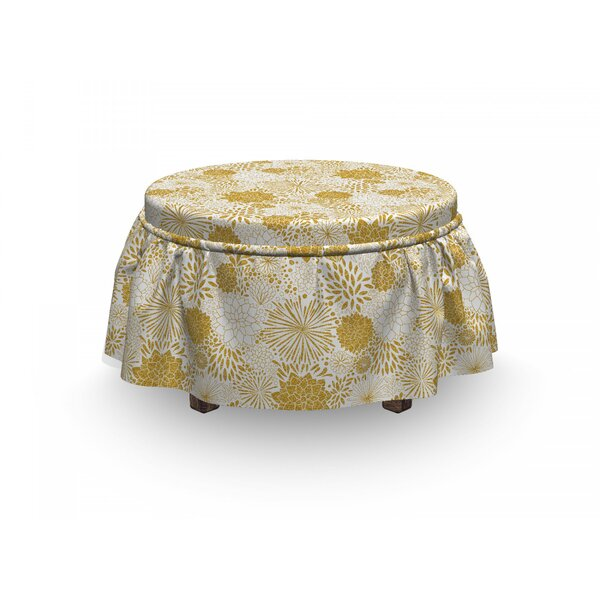 Discount Hand Drawn Dots Ottoman Slipcover (Set Of 2)