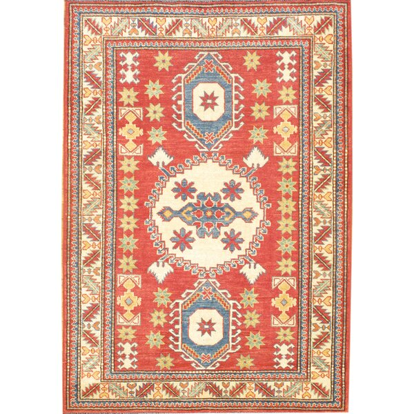 Hand-Knotted Red/Blue Area Rug by Pasargad NY
