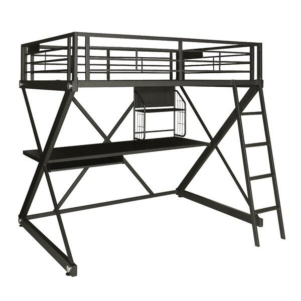 Hedy Full Over Full Loft Bed by Zoomie Kids