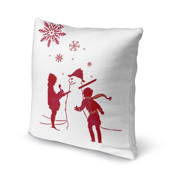 Lets Build a Snowman Throw Pillow by KAVKA DESIGNS