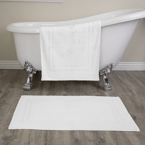 Royal Excellence Rectangle 100% Cotton Reversible 2 piece Bath Rug Set (Set of 2)