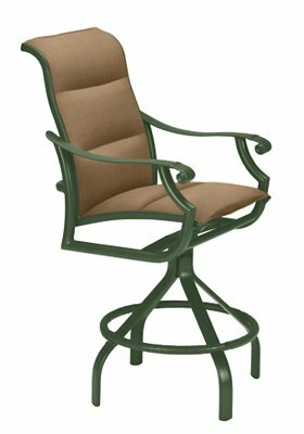 Montreux II Sling Swivel 30 Patio Bar Stool by Tropitone