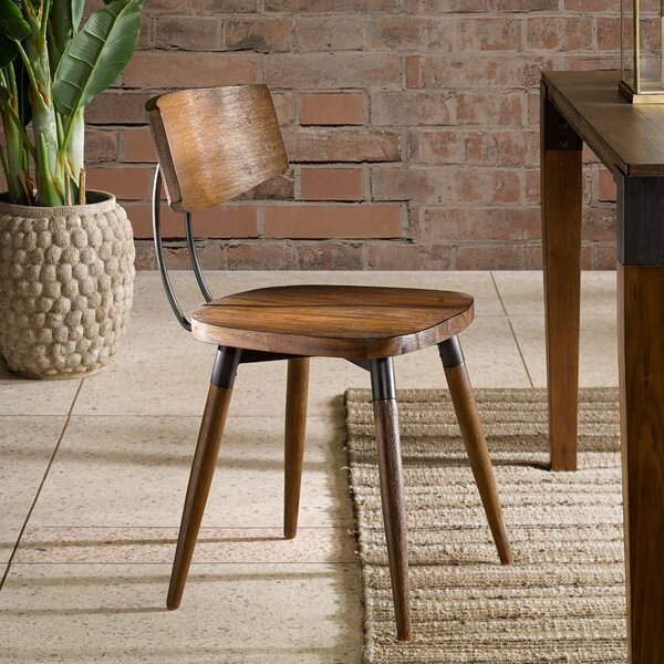 Deskins Solid Wood Dining Chair (Set of 2) by Williston Forge