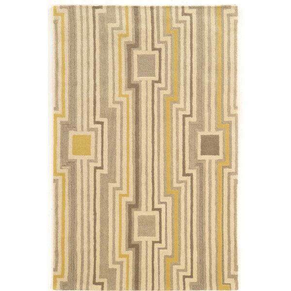 Patnode Hand-Tufted Beige/Gray/Yellow Area Rug by Wrought Studio