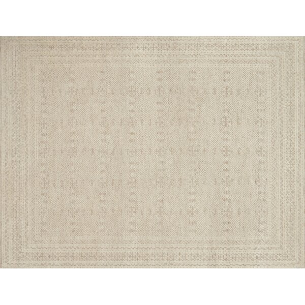 Parkerson Hand-Knotted Gray/Ivory Area Rug by One Allium Way