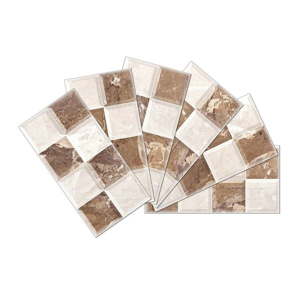 Crystal Skin 3 x 6 Glass Subway Tile in Gray/Brown by SkinnyTile