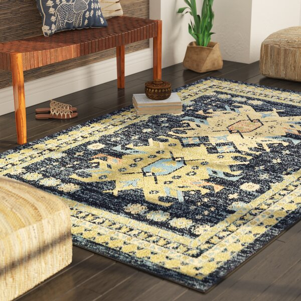 Valley Navy Blue Area Rug by World Menagerie