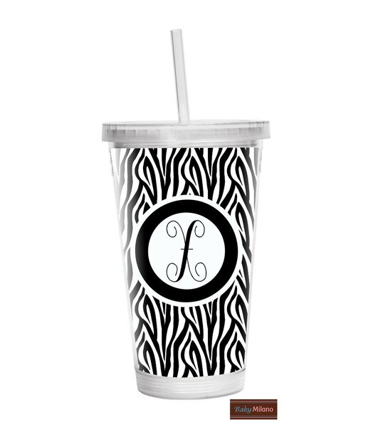 Zebra 16 oz. Plastic Travel Tumbler by Baby Milano