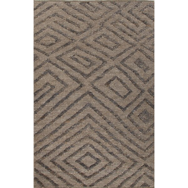 Luxor Hand-Woven Gray/Black Area Rug by Nikki Chu