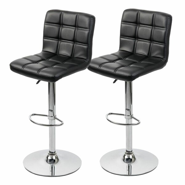 Waltham Adjustable Height Swivel Bar Stool (Set of 2) by Orren Ellis