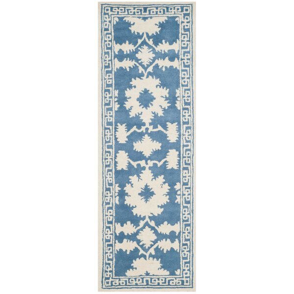 Amundson Hand Tufted Blue/Ivory Area Rug by Charlton Home
