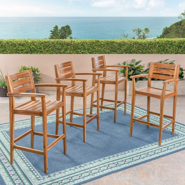 Winchell 30 Patio Bar Stool (Set of 4) by Bay Isle Home