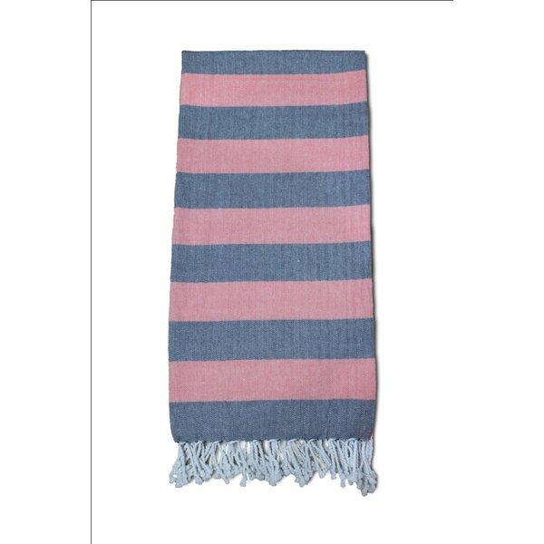 Striped Turkish Bath Towel by Charlton Home