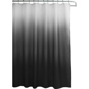 black and white shower curtain set. Wicklund 13 Piece Ombre Waffle Weave Shower Curtain Set Modern Curtains  AllModern