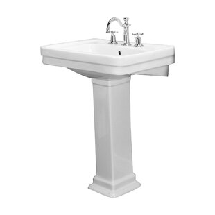 Great deal Sussex 660 Vitreous China 26 Pedestal Bathroom Sink with Overflow By Barclay