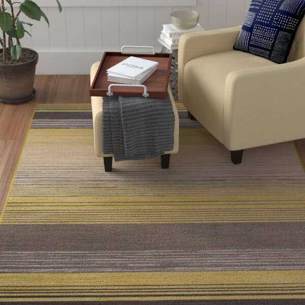 Vassallo Yellow Area Rug by Winston Porter