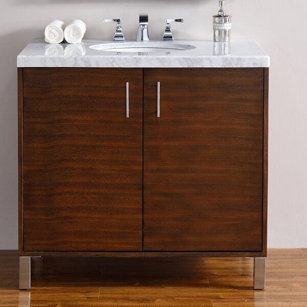 Cordie 36 Single American Walnut Hardwood Base Bathroom Vanity Set by Orren Ellis
