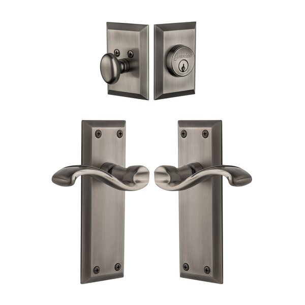 Fifth Avenue Keyed Door Lever by Grandeur