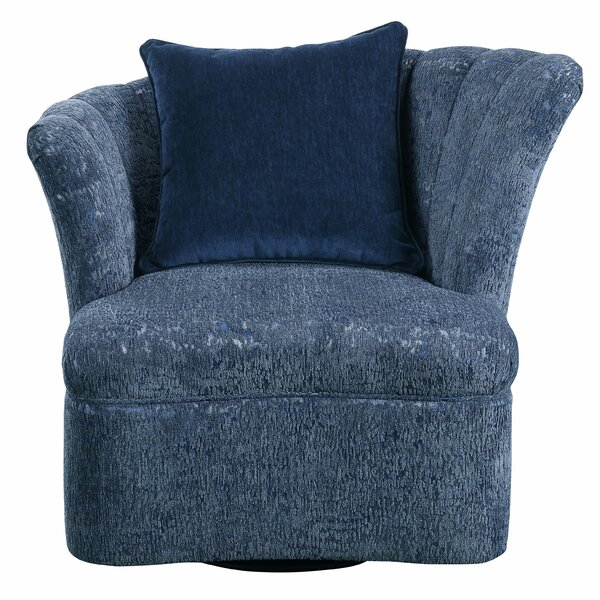 Fabric Swivel Slipper Chair by Major-Q