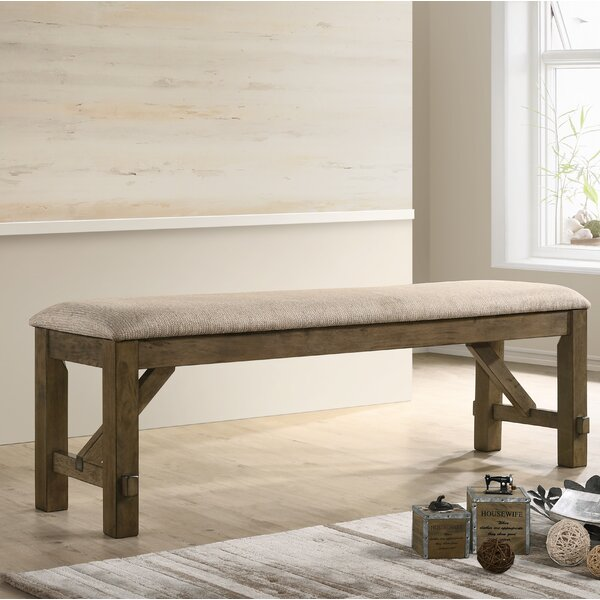 Poe Upholstered Bench by Gracie Oaks