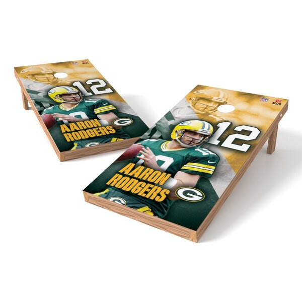 NFLPA Packers Aaron Rodgers Cornhole Game Set by Tailgate Toss
