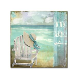 'By the Sea I' by Color Bakery Painting Print on Wrapped Canvas by Trademark Fine Art