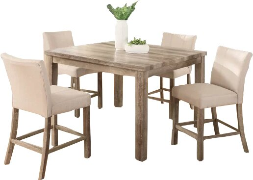 Shaunda Casual 5 Piece Counter Height Dining Set by Union Rustic
