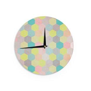 Louise Machado 'Pastel Hexagon' 12 Wall Clock by East Urban Home