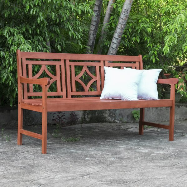 Amabel Patio Diamond Wooden Garden Bench by Beachcrest Home Beachcrest Home