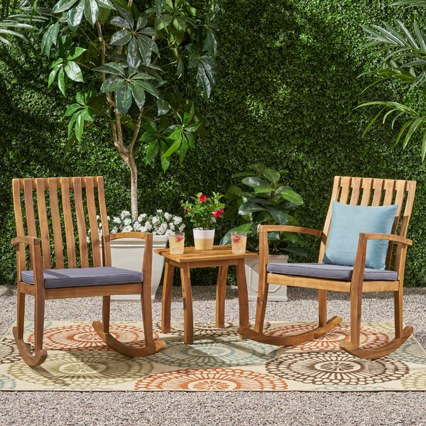 Starrett Outdoor 3 Piece Seating Group with Cushion by Millwood Pines