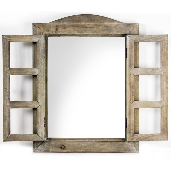 Pentillie Window Shutter Wall Mirror by Gracie Oaks