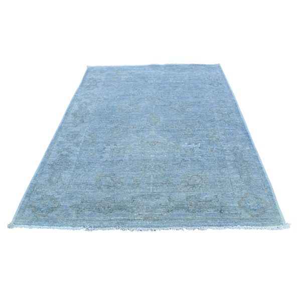 One-of-a-Kind Bagby Hand-Knotted Blue Area Rug by Isabelline