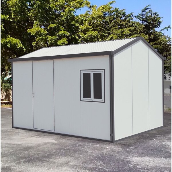 Gable 13 ft. 5 in. W x 10 ft. 5 in. D Metal Storage Shed by Duramax Building Products