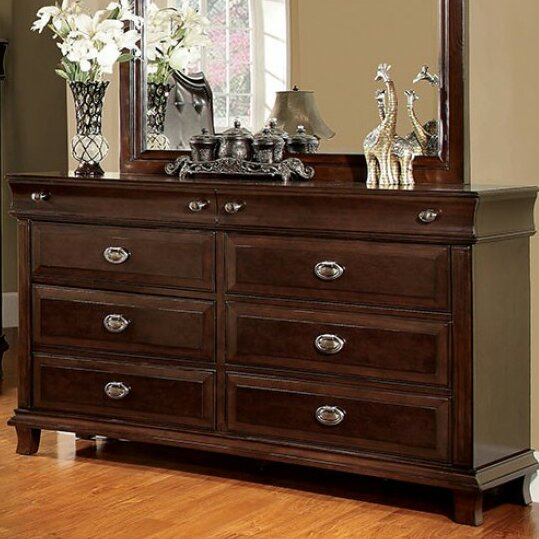 Peggie 8 Drawer Double Dresser with Mirror by Darby Home Co