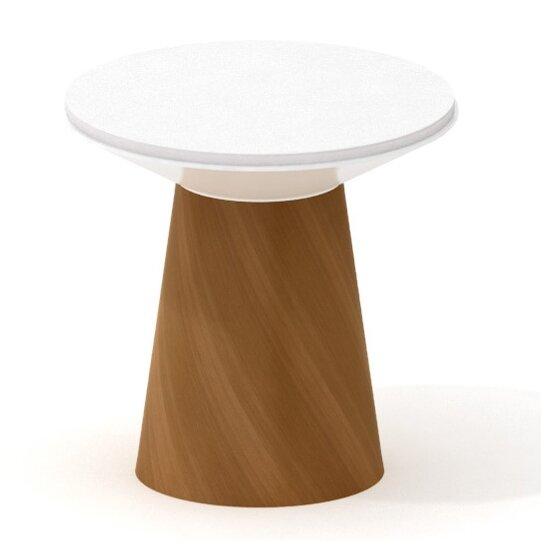 Campfire Turnstone 24.6 Round Paper Table by Steel