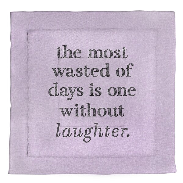 Laughter Inspirational Quote Single Reversible Comforter