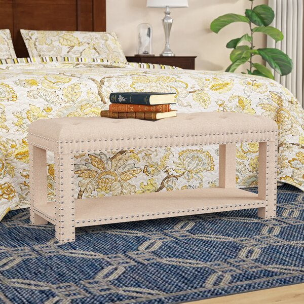Selena Upholstered Storage Bench by Charlton Home