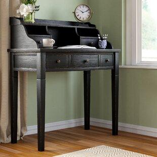 Affordable Price Olavo Secretary Desk with Hutch ByBeachcrest Home